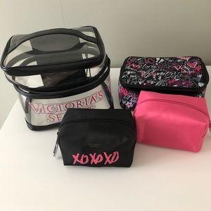 Victoria's Secret ser of 4 makeup bags!